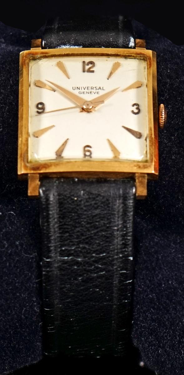 5150e6f102a Relógio de pulso da década de 50 com caixa em ouro 18 K