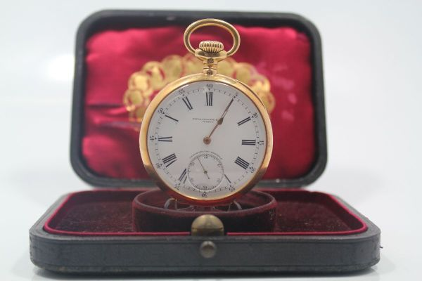 b0dac0b9019 Relógio   Raríssimo Relógio de Bolso Patek PHilippe - 21 Linhas