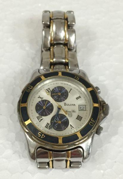 a52c0ba2247 Relógio de pulso masculino Bulova Marine Star em aço