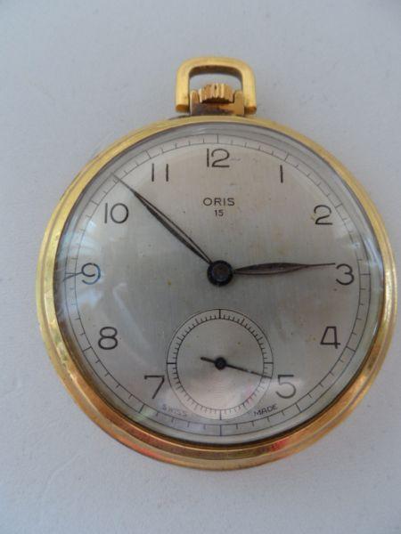 1844e46ea18 Relógio de bolso marca ORIS