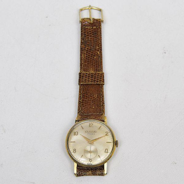 63e46cc567f Classic - 17 rubis - Antigo relógio masculino de pulso made Swiss - Sem .