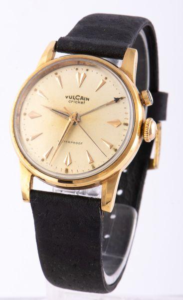 180e1ff119f Relógio de pulso masculino da década de 50 com caixa em ouro 14 K da marca