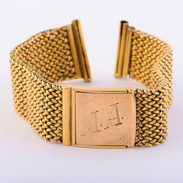 f56cff259e8 Pulseira para relógio masculino em malha de ouro 18 kts