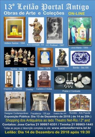 13º Leilão do Portal Antigo - Obras de Arte e Coleções -  Somente On Line