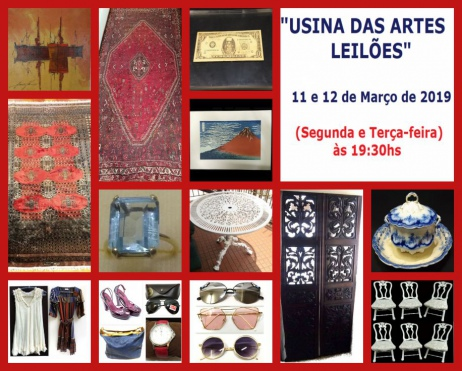 18º USINA DAS ARTES LEILÕES  - PEÇAS DE ARTES, ANTIGUIDADES, COLECIONISMO, DECORAÇÃO E OPORTUNIDADES