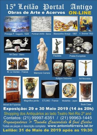 15º Leilão do Portal Antigo - Obras de Arte e Acervos -  Somente On Line