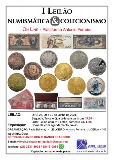 I Leilão Numismática & Colecionismo - Somente on line