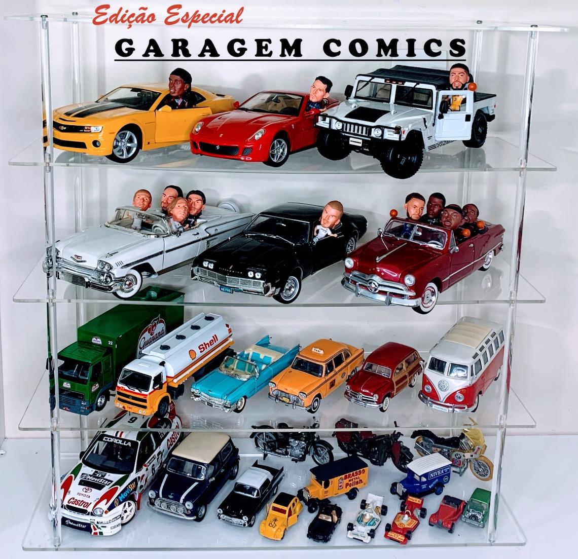 COMICS - IV Leilão de Colecionáveis - Edição Especial: GARAGEM COMICS, com mais de 400 carrinhos!